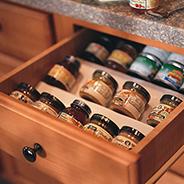 Kitchen spice rack drawer
