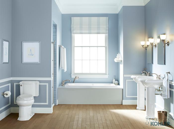 Sleek lines versus curvy details picking the right for Kohler bathroom designs
