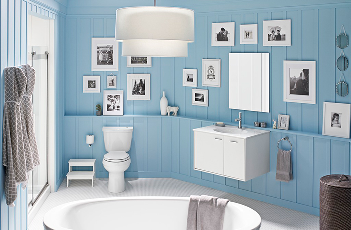 Quiz what s your bathroom style Revetement mural autocollant
