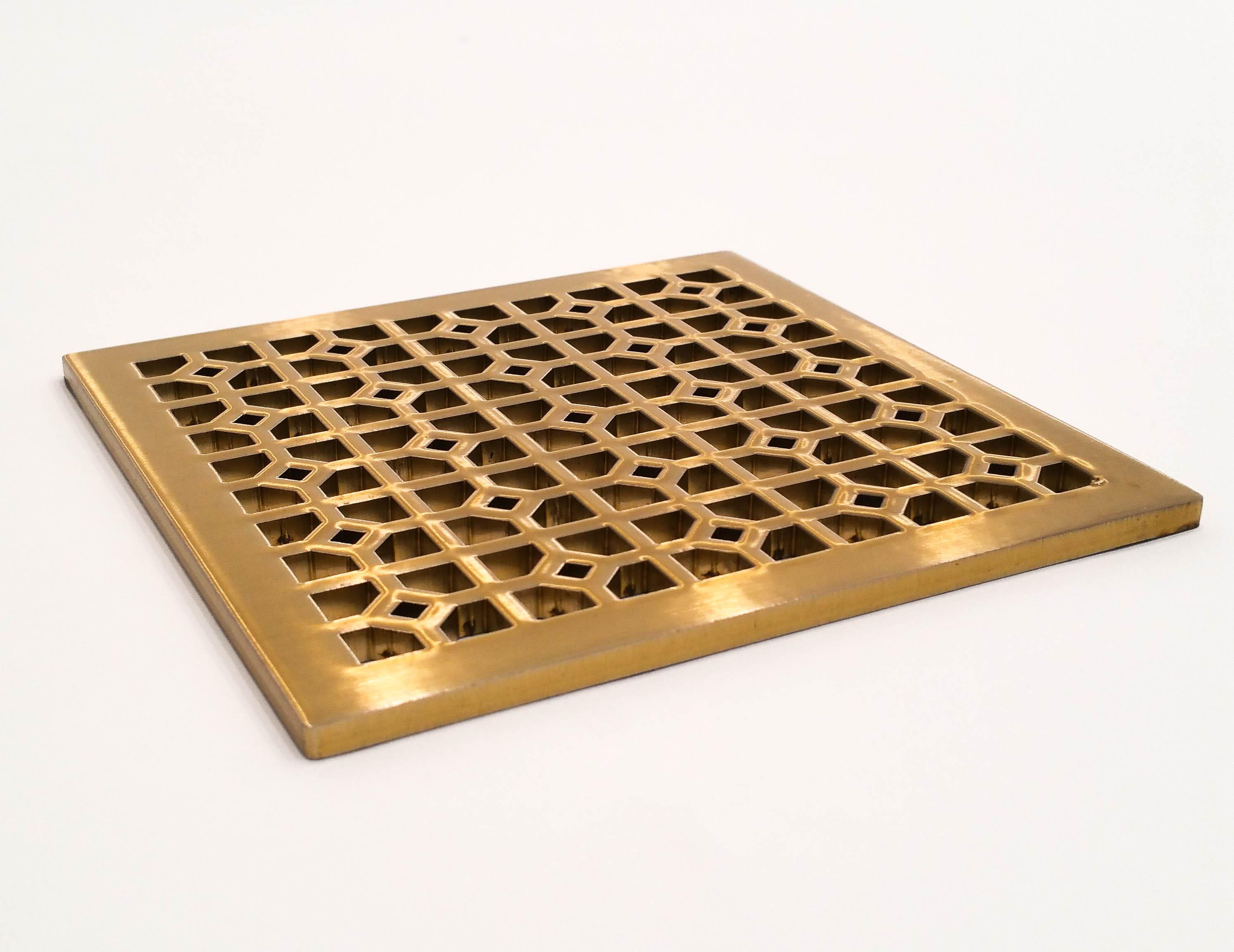 Infinity Drain in satin bronze finish