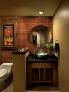 bathroom warm tones